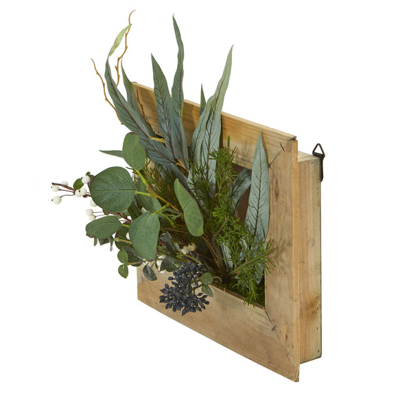 Eucalyptus Artificial Plant in Hanging Frame - SKU #8404 - 1