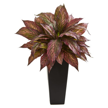 27 Musa Artificial Plant in Black Planter - SKU #8526