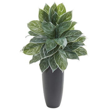 37 Aglonema Artificial Plant in Planter Real Touch - SKU #8551