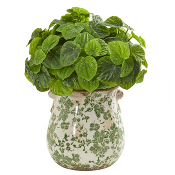 Peperomia Artificial Plant in Floral Vase Real Touch - SKU #8568
