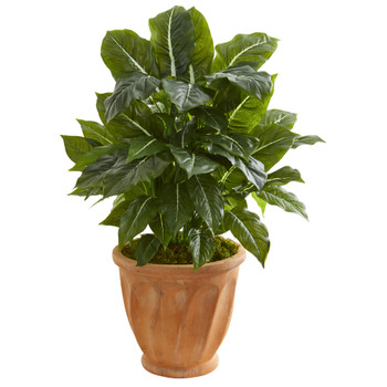 30 Evergreen Artificial Plant in Terracotta Planter Real Touch - SKU #8576
