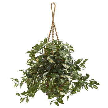 26 Florida Beauty Artificial Plant in Hanging Basket - SKU #8582
