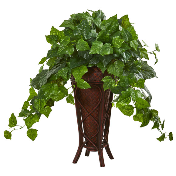 32 London Ivy Artificial Plant in Decorative Planter Real Touch - SKU #8601