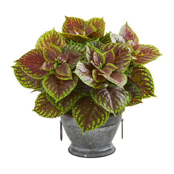 Coleus Artificial Plant in Decorative Bowl Real Touch - SKU #8613