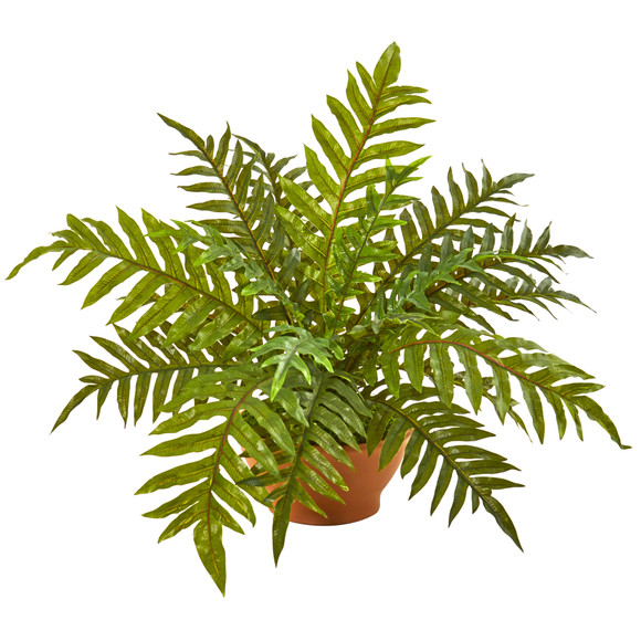 24 Hares Foot Fern Artificial Plant in Planter Real Touch - SKU #8644