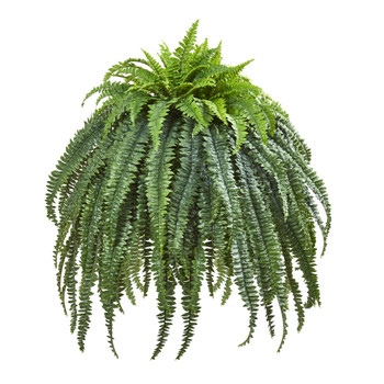 56 Giant Boston Fern Artificial Plant in Cement Bowl - SKU #8646