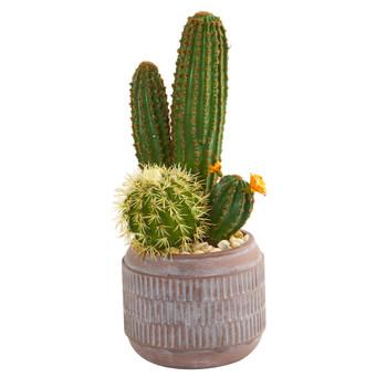 19 Cactus Artificial Plant in Decorative Planter - SKU #8670