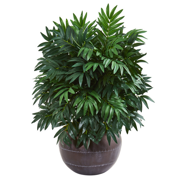 32 Bamboo Palm Artificial Plant in Metal Bowl - SKU #8675