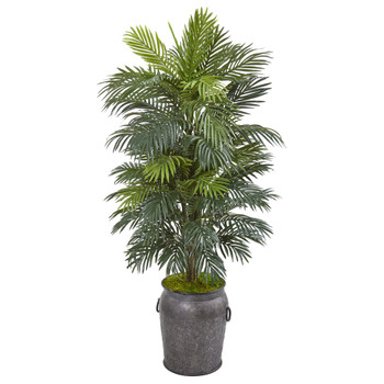 5 Areca Palm Artificial Plant in Metal Planter - SKU #8683