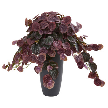 26 Peperomia Artificial Plant in Decorative Planter Real Touch - SKU #8691