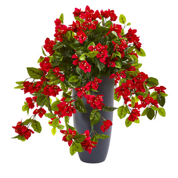 26 Bougainvillea Artificial Plant in Planter UV Resistant Indoor/Outdoor - SKU #8692