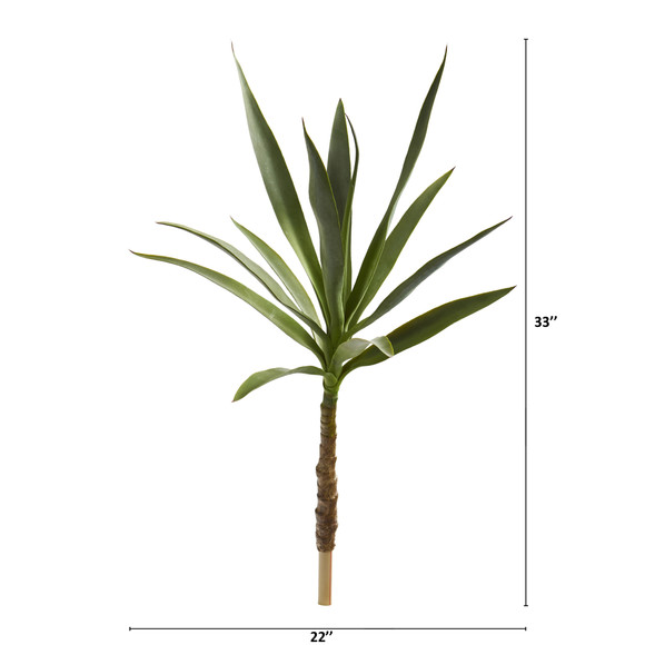 33 Yucca Head Artificial Plant Set of 2 - SKU #8705-S2 - 1