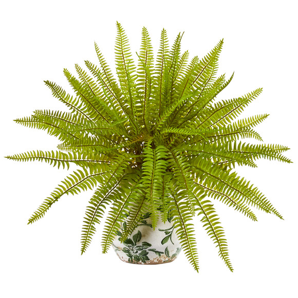 15 Fern Artificial Plant in Floral Planter - SKU #8717
