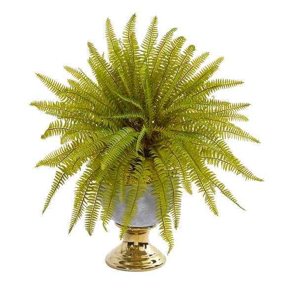 20 Fern Artificial Plant in Stoneware Urn - SKU #8718