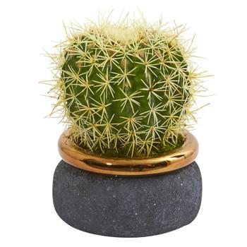 Cactus Artificial Plant in Designer Bowl - SKU #8723