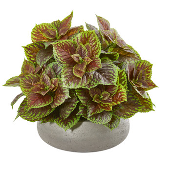 16 Coleus Artificial Plant in Decorative Planter Real Touch - SKU #8724