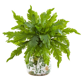 13 Fern Artificial Plant in Floral Vase - SKU #8738