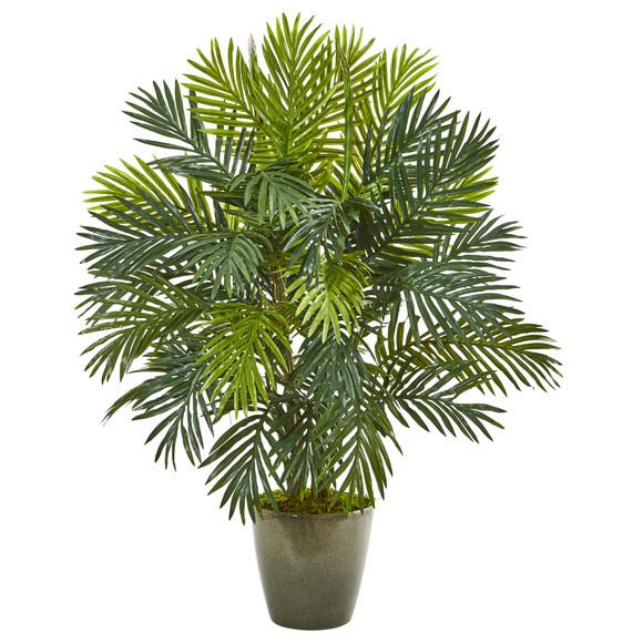 35 Areca Palm Artificial Plant in Green Planter - SKU #8770