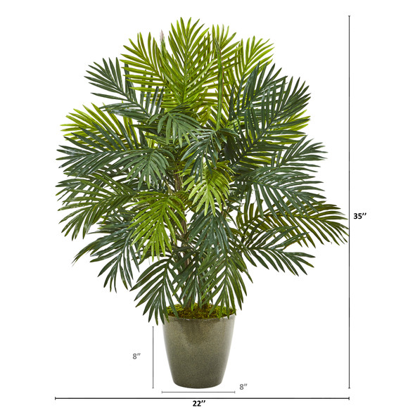 35 Areca Palm Artificial Plant in Green Planter - SKU #8770 - 1