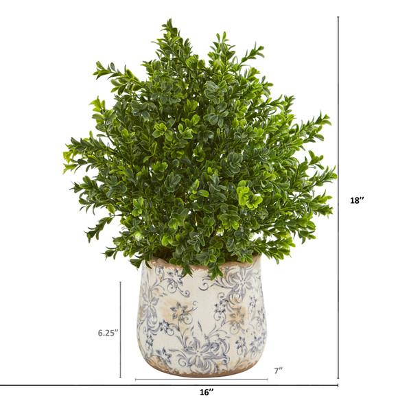 18 Sweet Grass Artificial Plant in Floral Vase Indoor/Outdoor - SKU #8776 - 1