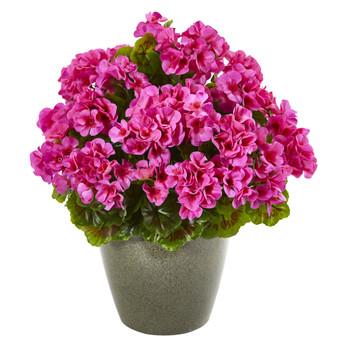 17 Geranium Artificial Plant UV Resistant Indoor/Outdoor - SKU #8777