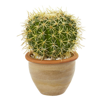 10 Cactus Artificial Plant in Decorative Ceramic Planter - SKU #8784