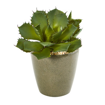 15 Succulent Artificial Plant in Decorative Planter - SKU #8785