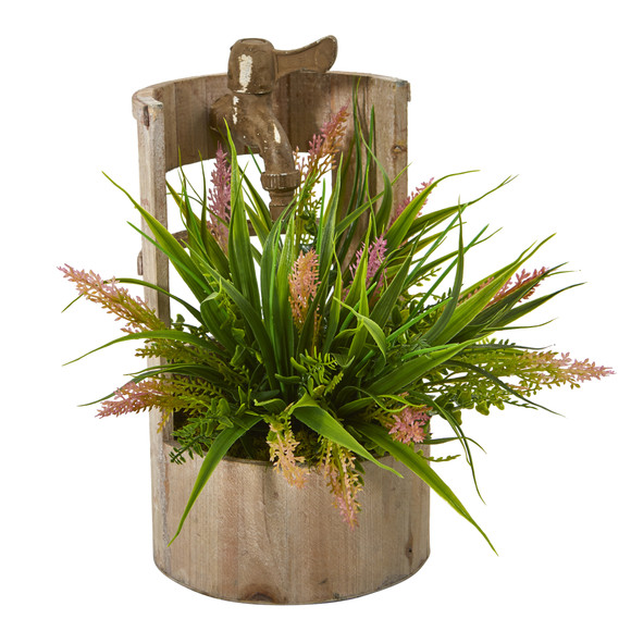 Grass Artificial Plant in Faucet Planter - SKU #8826