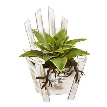 8 Sanseveria Artificial Plant with Roots in Chair Planter - SKU #8867