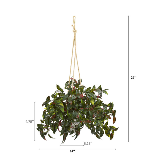27 Mini Melon Artificial Plant in Hanging Bucket UV Resistant Indoor/Outdoor Set of 2 - SKU #8885-S2 - 1