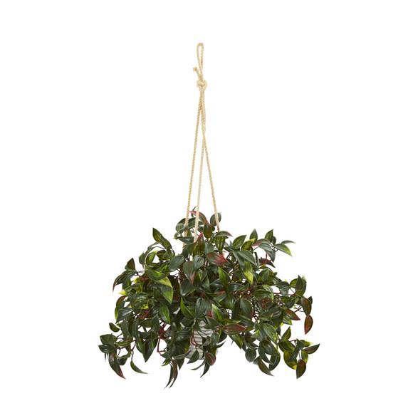 27 Mini Melon Artificial Plant in Hanging Bucket UV Resistant Indoor/Outdoor Set of 2 - SKU #8885-S2 - 2