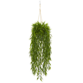 50 Mini Bamboo Artificial Plant in Hanging Metal Bucket - SKU #8888