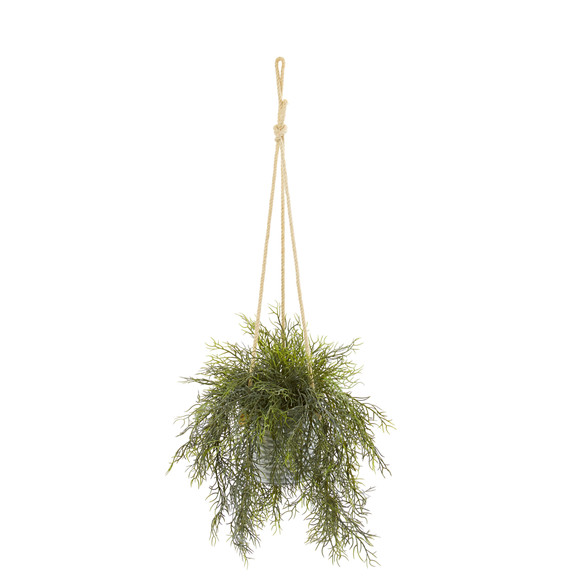 27 Tillandsia Moss and Staghorn Artificial Plant in Hanging Bucket Set of 2 - SKU #8891-S2 - 1
