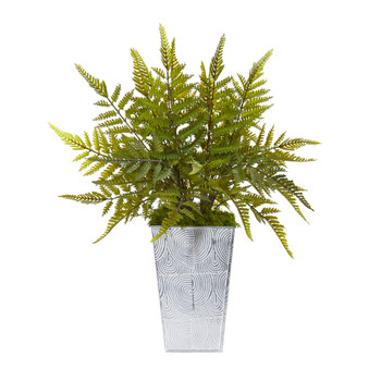 15 Fern Artificial Plant in Planter - SKU #8894
