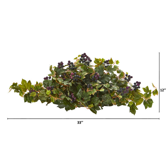 33 Grape Leaf Artificial Ledge Plant - SKU #8899 - 1