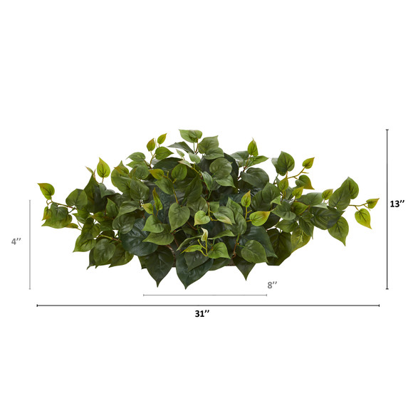 31 Philodendron Artificial Ledge Plant - SKU #8914 - 1