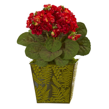 13 Violet Artificial Plant in Green Planter - SKU #8930