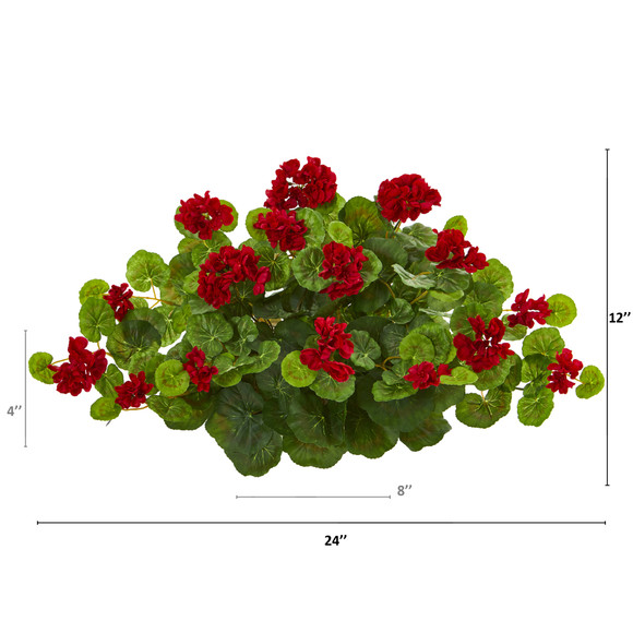 24 Geranium Artificial Ledge Plant - SKU #8940 - 1