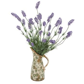 21 Lavender Artificial Plant in Floral Pitcher - SKU #8964