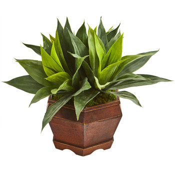 16 Agave Succulent Artificial Plant in Decorative Planter - SKU #8977