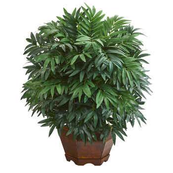24 Bamboo Palm Artificial Plant in Decorative Planter - SKU #8980