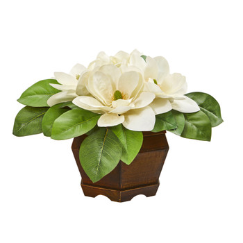20 Magnolia Artificial Plant in Decorative Planter - SKU #8990