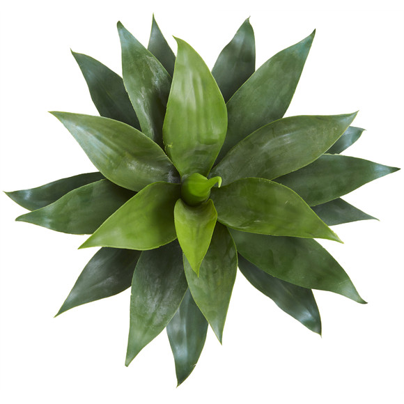 28 Large Agave Artificial Plant in Green Planter with Legs - SKU #8997 - 1