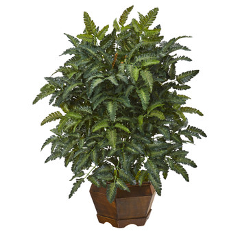 26 Bracken Fern Artificial Plant in Decorative Planter - SKU #8999