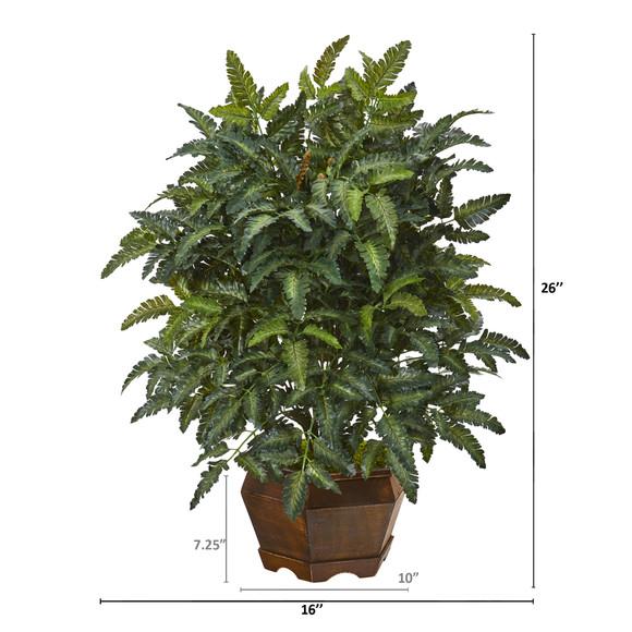 26 Bracken Fern Artificial Plant in Decorative Planter - SKU #8999 - 1