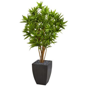 Dracaena Artificial Tree in Black Planter - SKU #9050