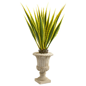 4.5 Agave Artificial Plant in Urn - SKU #9070