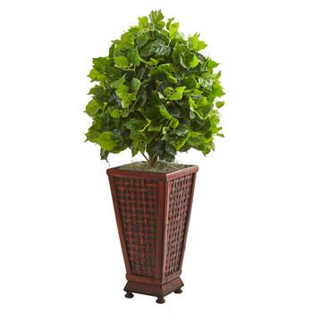 3 Ficus Artificial Tree in Decorative Planter - SKU #9089