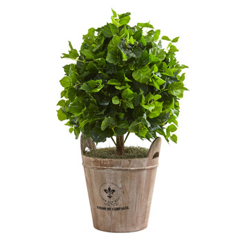 2.5 Ficus Artificial Tree in Farmhouse Planter - SKU #9091