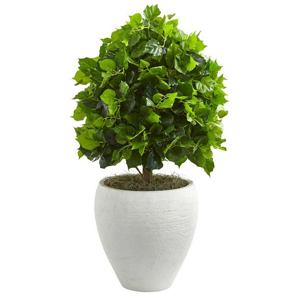 2.5 Ficus Artificial Tree in White Planter - SKU #9093